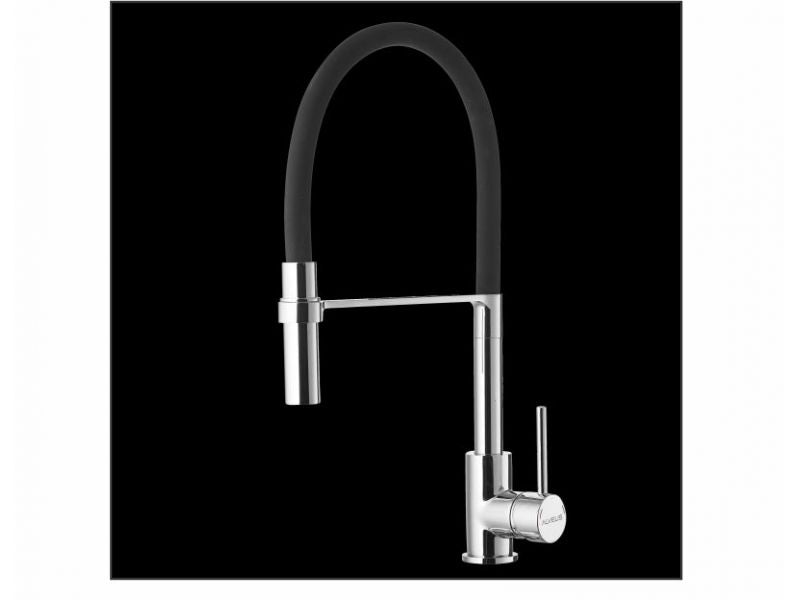 Alveus Elia Chrome/Matte Black, pull out kitchen mixer tap