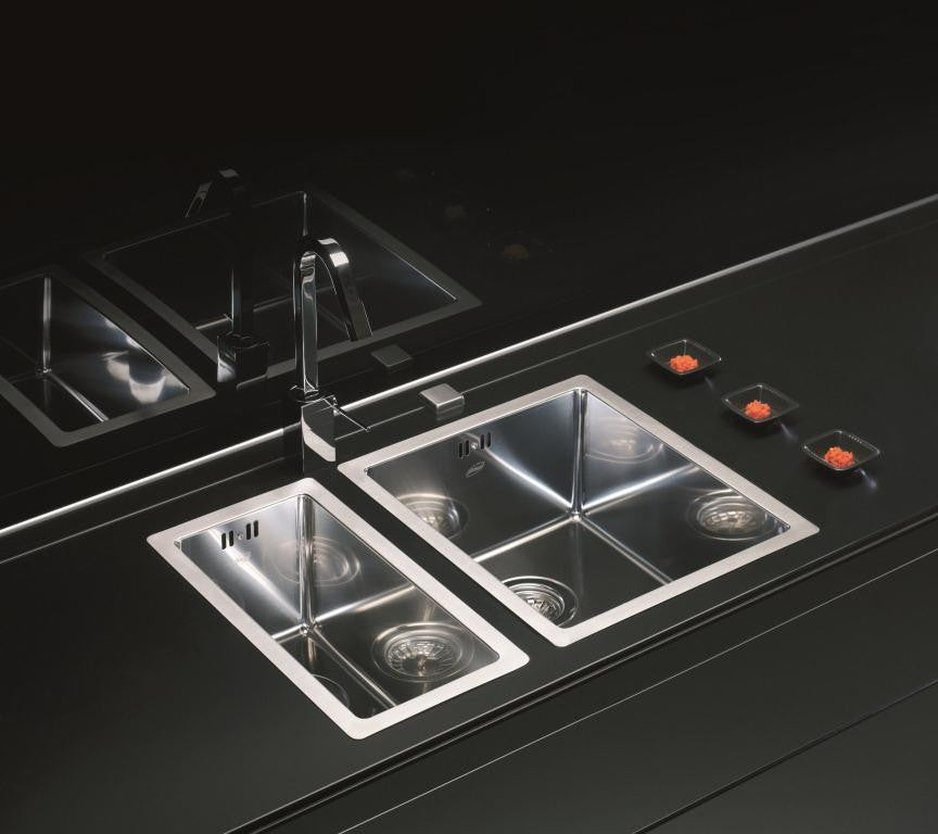 Alveus Quadrix 10, flush/ flat-mount or under-mount sink