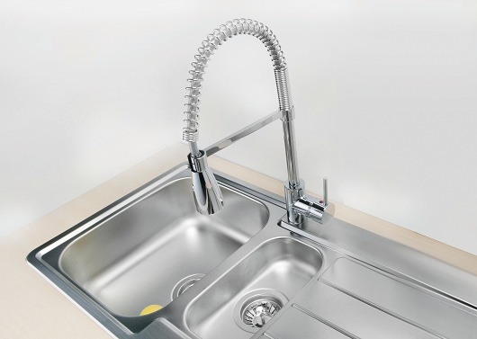 Billy - S Chrome, Kitchen Mixer Coil Tap with Spray