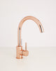 Cascata Rose Gold kitchen mixer tap, with Eco handle