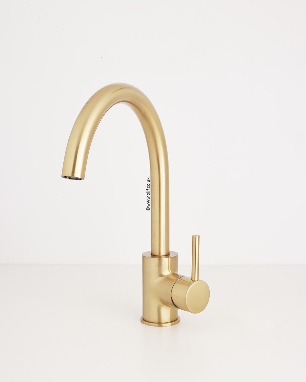 Cascata Satin Bronze kitchen mixer tap, with Eco handle