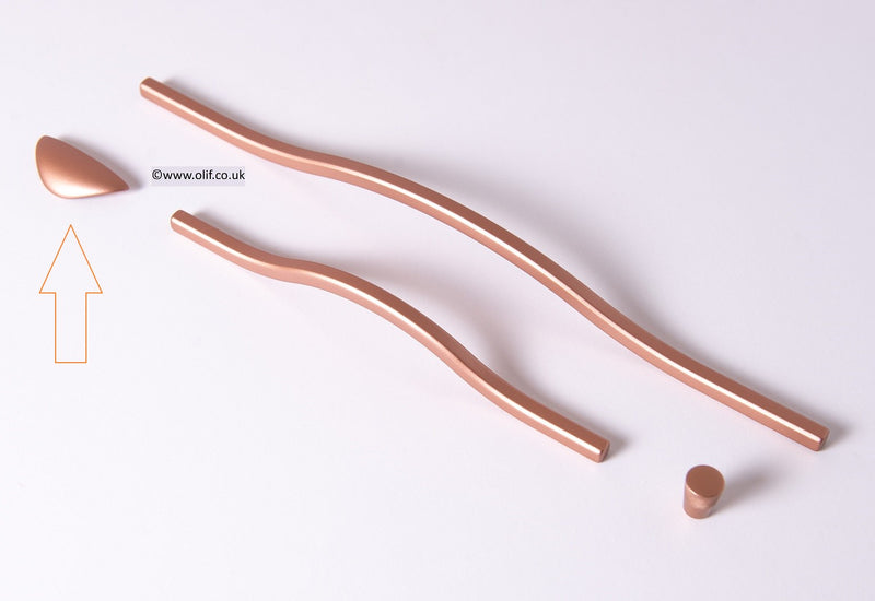 Olif Cabinet Handle Cup Copper
