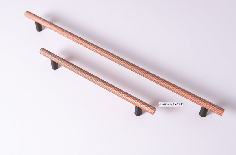 Olif Cabinet T-bar Mix & Match Handle, Copper/Anthracite