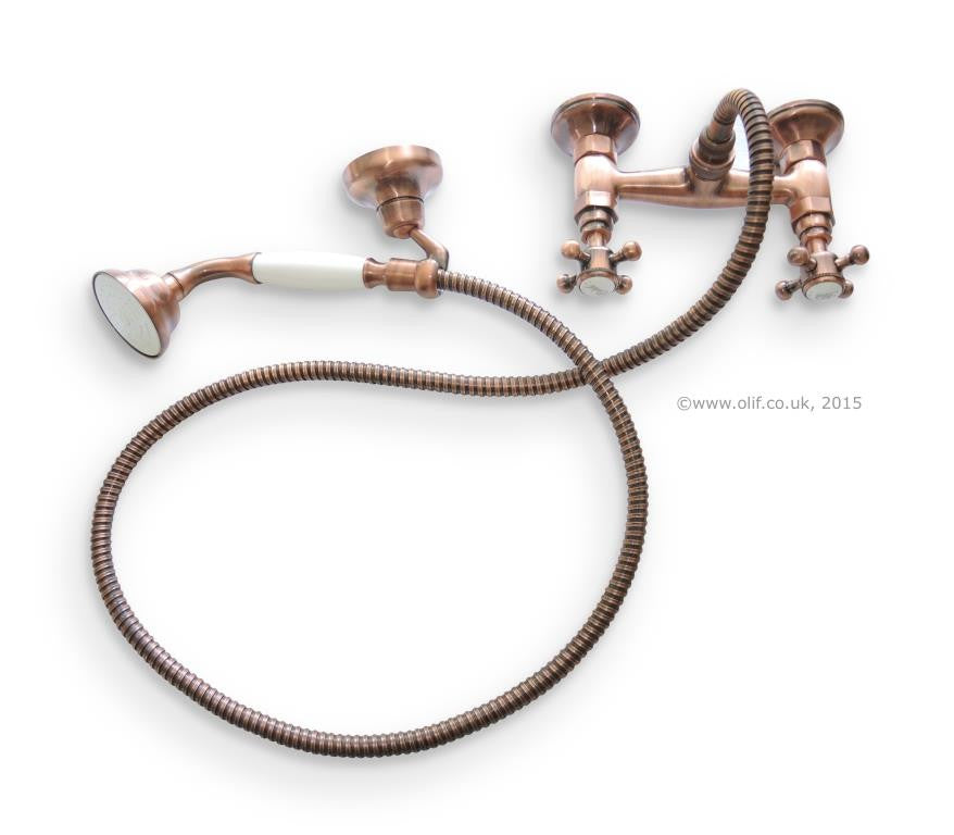 Antique Copper-plated handshower