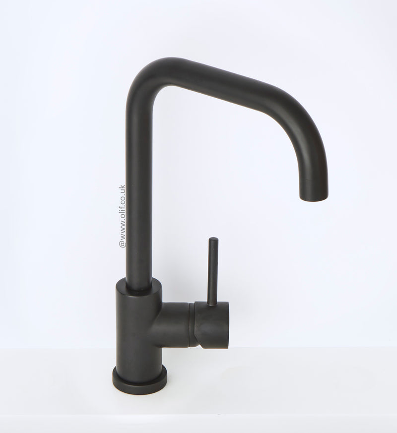 Delfino Matte Black, kitchen mixer tap, Monarch collection - A FACTORY SECOND (40%) TAP A