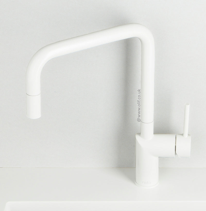 Nivito RH-330 Matte White, kitchen mixer tap - A Factory Second (40% Discount) - Tap A