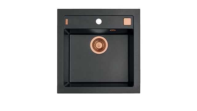 Granite Composite Kitchen Sink Copper Brass Waste