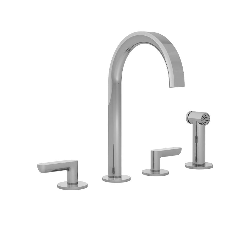Fantini Icona Deco, kitchen mixer tap with handshower