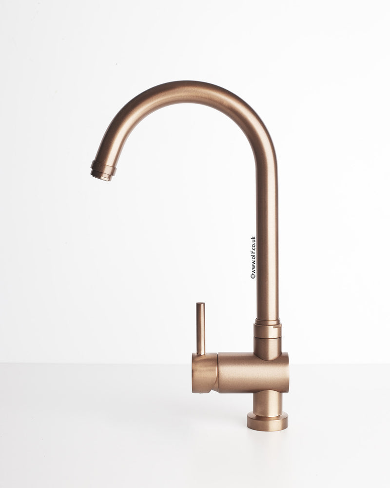 Idrotech 314 Brushed Copper, kitchen mixer tap