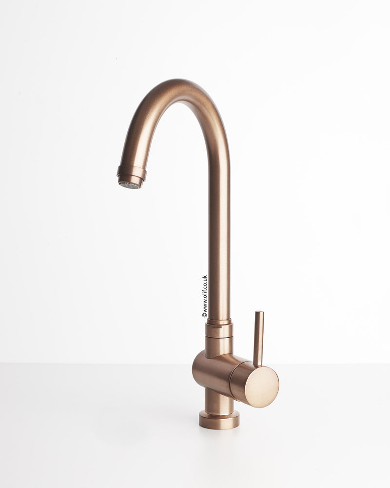 Brushed Copper kitchen mixer tap - Idrotech Copper – Olif