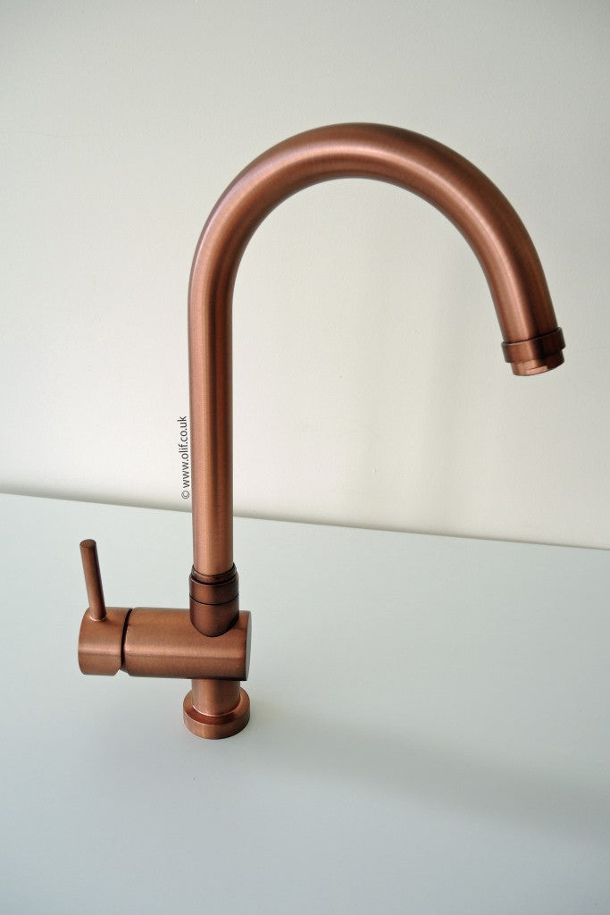 Idrotech 314 Rustic Copper, kitchen mixer tap