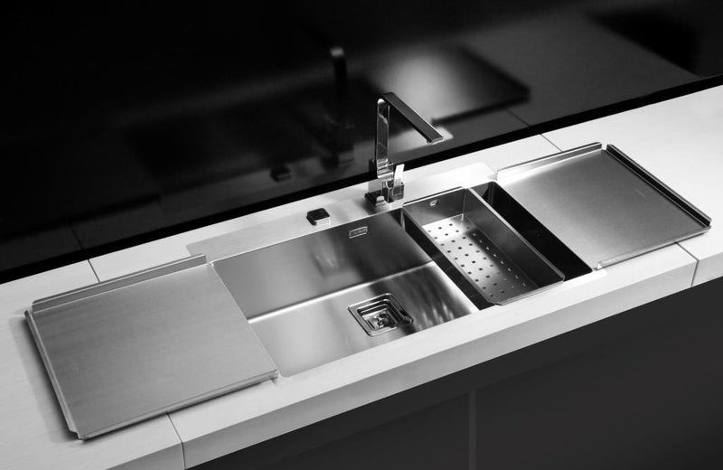 Alveus Stylux 40, flush or flat-mount sink