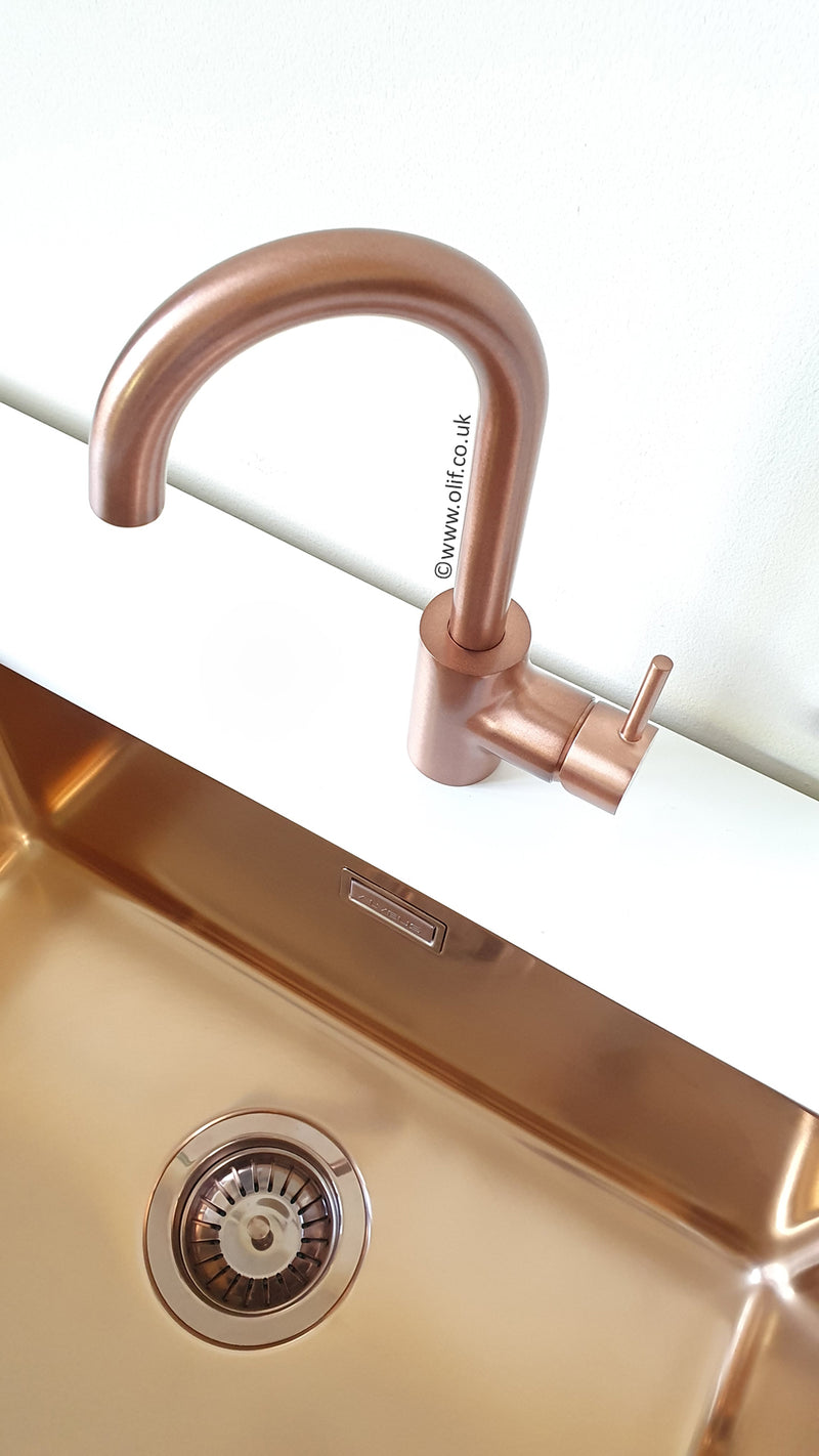 Minimo Rustic Copper, kitchen mixer tap