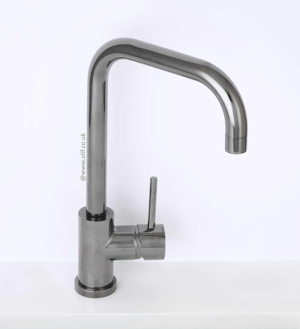 Alveus Delfino Anthracite, kitchen mixer tap, Monarch collection