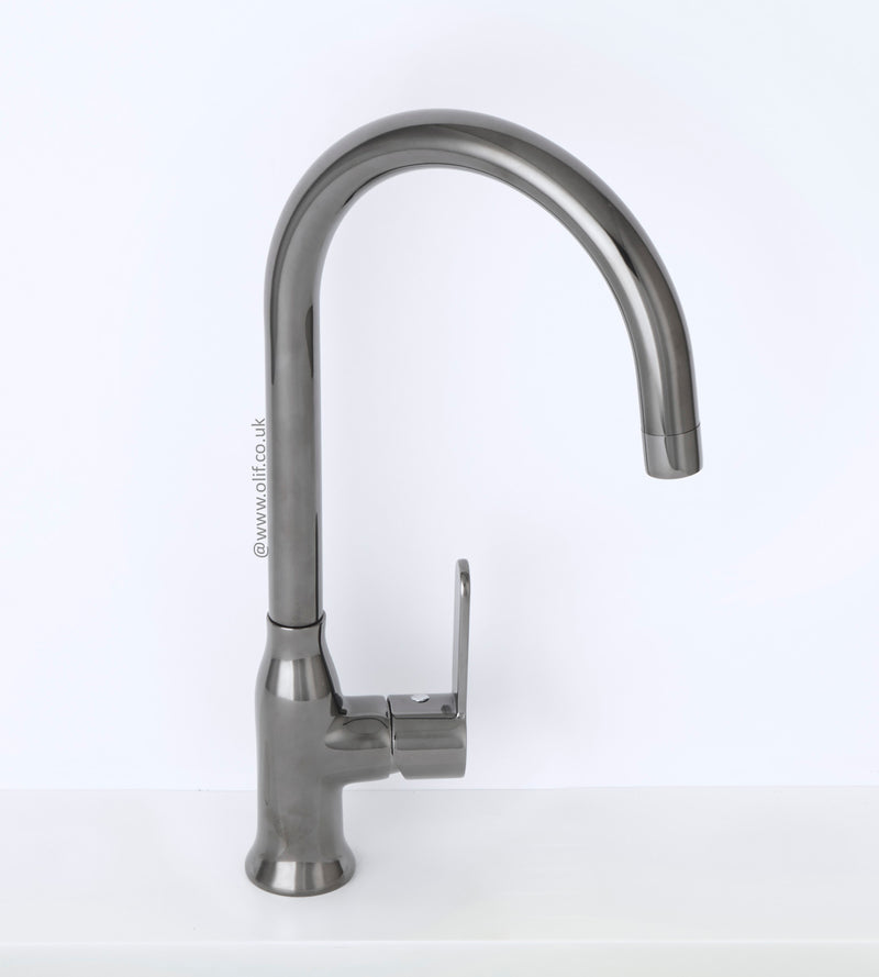 Alveus Leo Anthracite, kitchen mixer tap, Monarch Collection