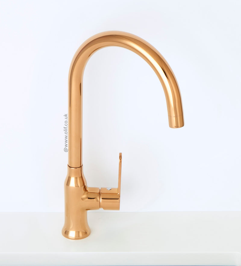Alveus Leo Bronze, kitchen mixer tap, Monarch collection