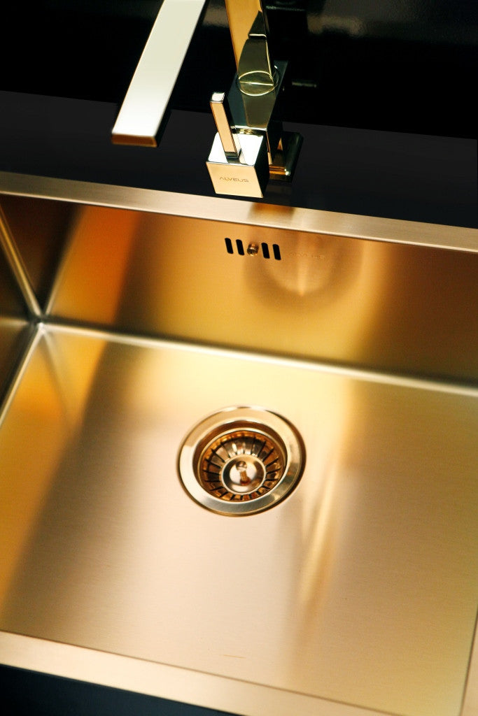Alveus Monarch Quadrix 20 Bronze, flush/slim/undermount sink- A FACTORY SECOND (30% discount), C
