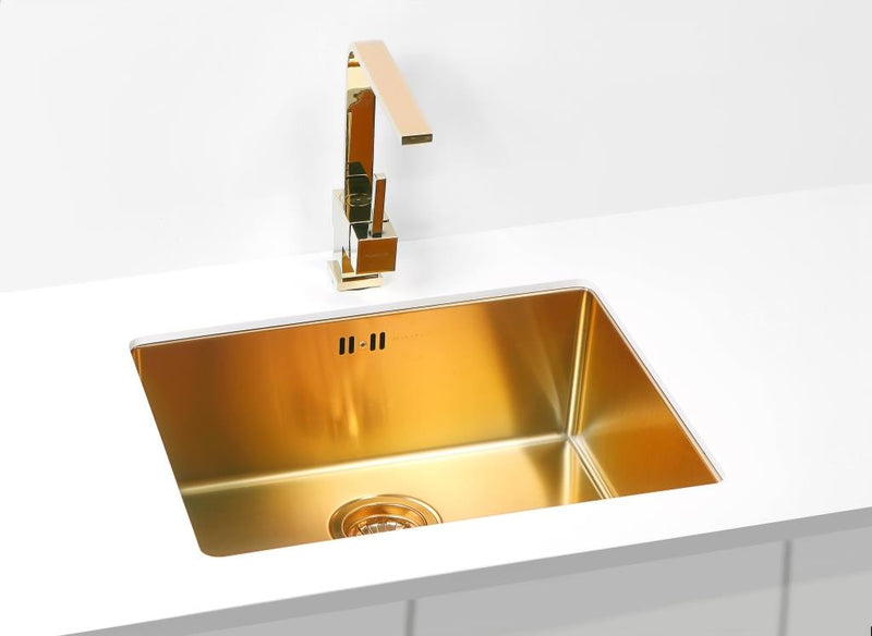 Bronze Brass Finish Kitchen Sink Stainless Steel