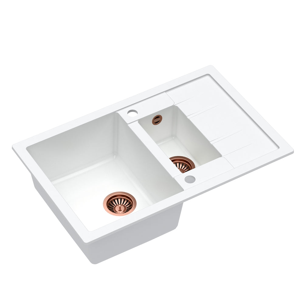 Quadron Morgan 156 White kitchen sink, Mix and Match