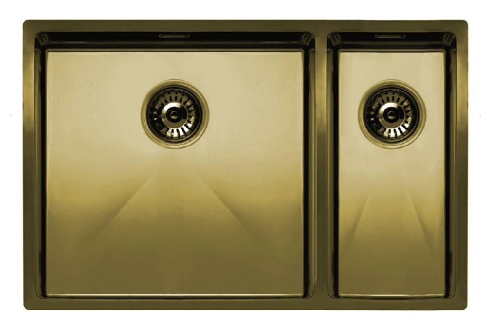 Nivito Cube 500-180 Brass/ Gold, top-mount or under-mount sink