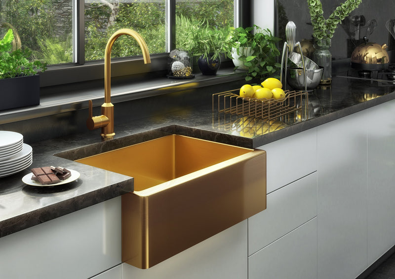 Nano Belfast Gold butlers kitchen sink