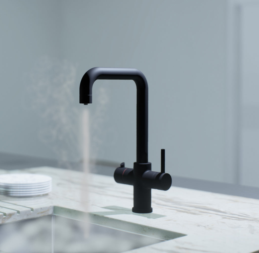 Triniti 3n1 Instant Hot Water tap Matte Black, with boiler and filter