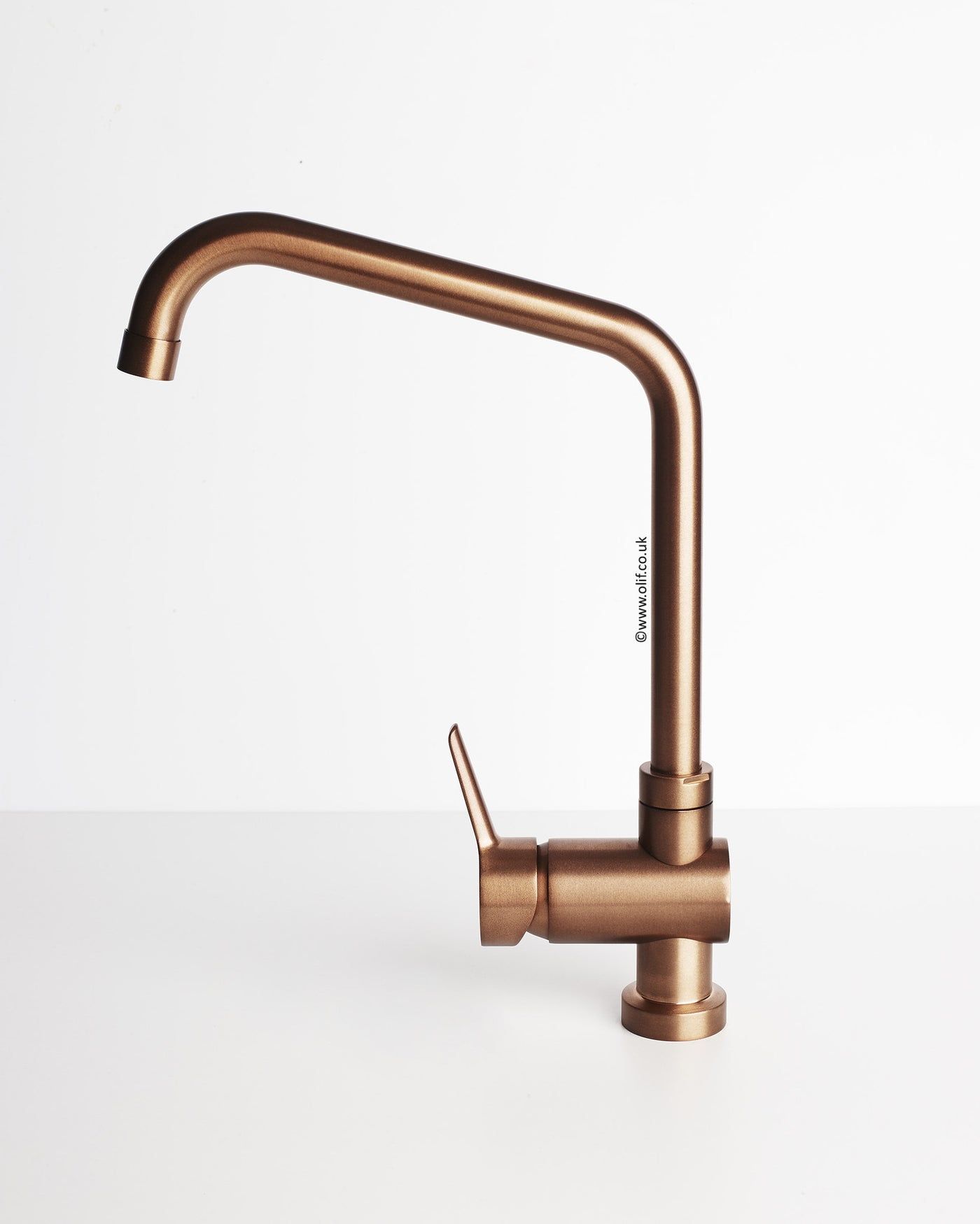 Brushed Copper kitchen mixer tap - Primo Copper by Olif