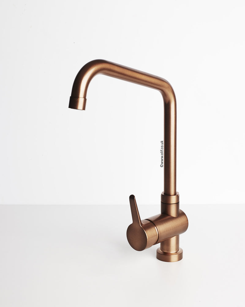 Primo Brushed Copper, kitchen mixer tap