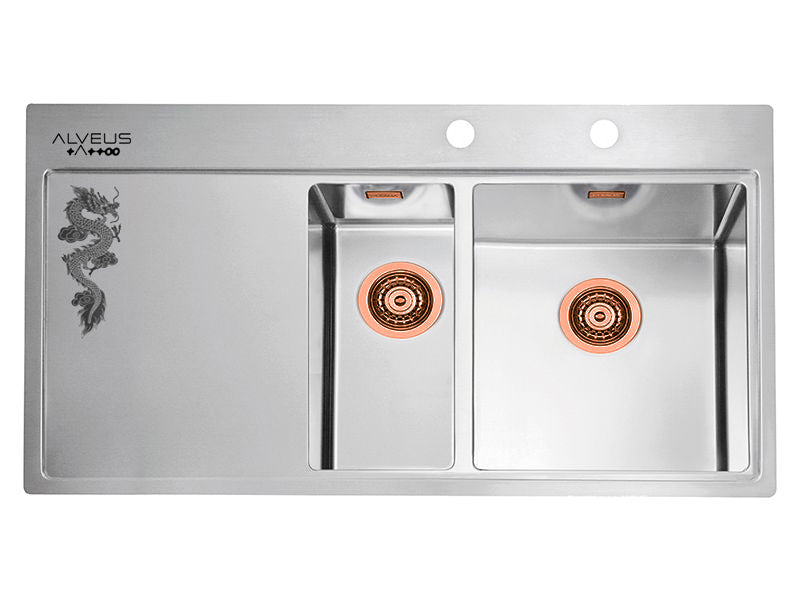 Alveus Pure 60 Tattoo Monarch, flush or flatmount kitchen sink