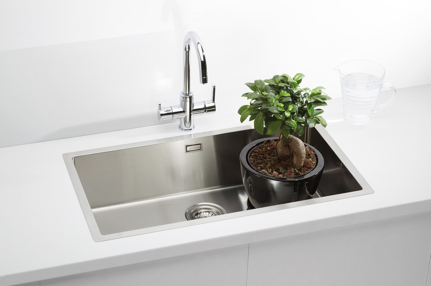 Extra large kitchen sink, UK | Alveus Quadrix 60 – Olif