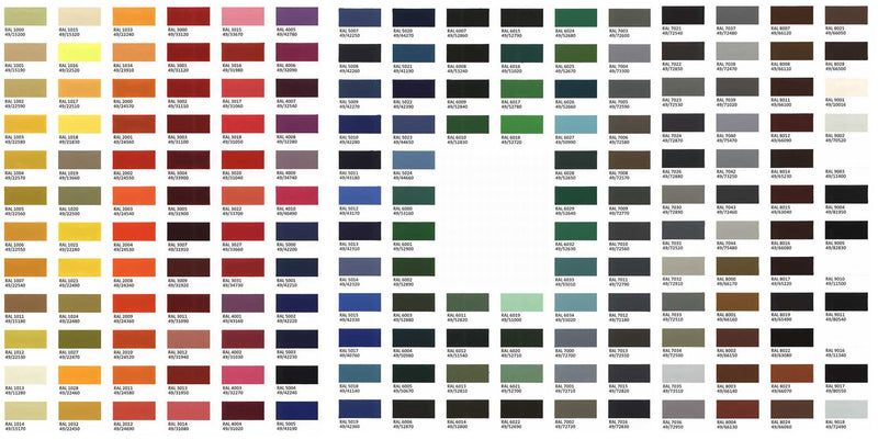 Bespoke Glass Colour Swatches