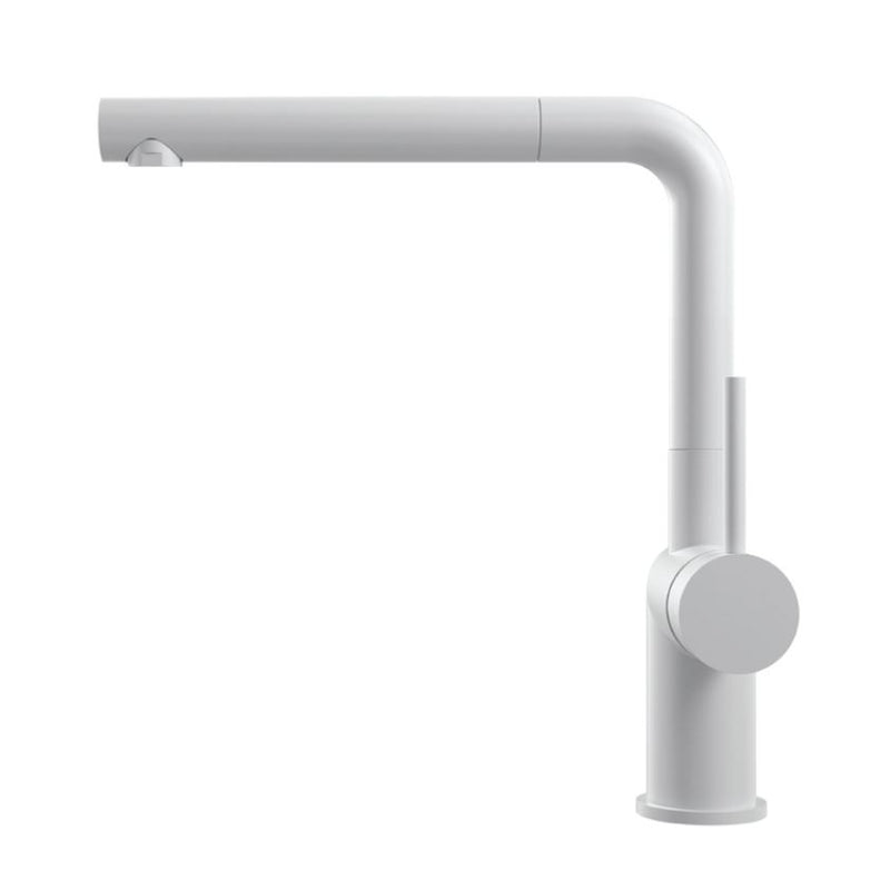 Nivito RH-630 EX Matte White, pull-out kitchen mixer tap