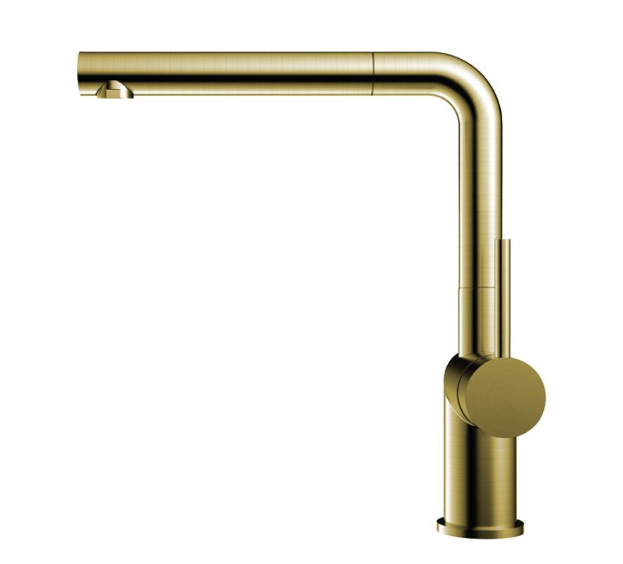 Nivito RH-640 EX Brushed Brass/Gold, pull-out kitchen mixer tap