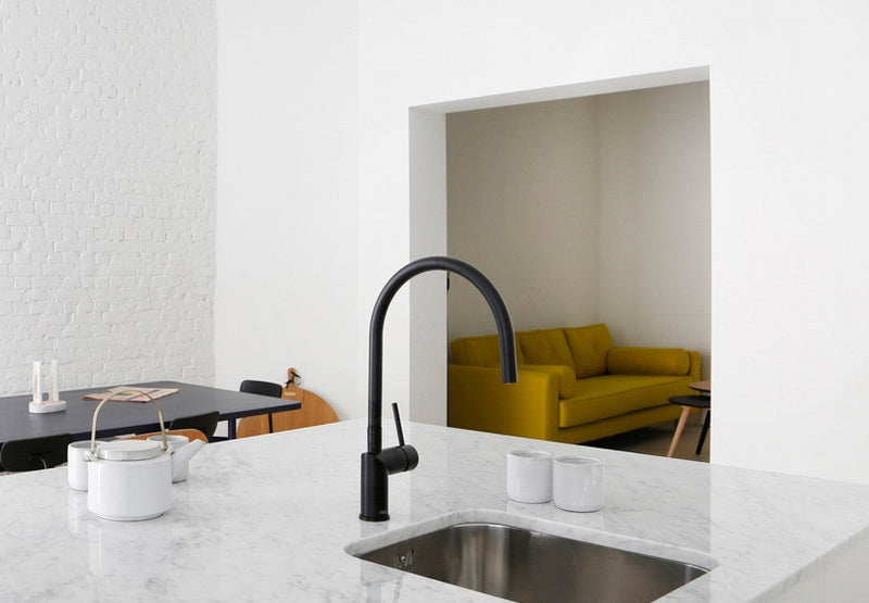 Nivito RH 120 Matte Black, kitchen mixer tap