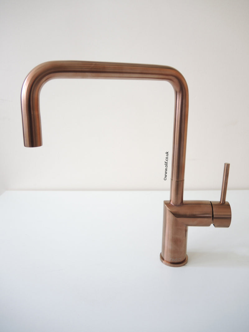 Nivito RH 350 Brushed Copper, kitchen mixer tap