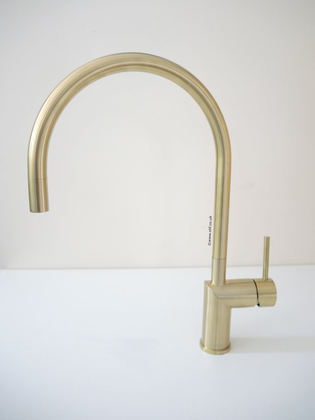 Nivito RH 140 Brushed Brass/Gold, kitchen mixer tap - Factory Seconds (40% Discount) Tap B