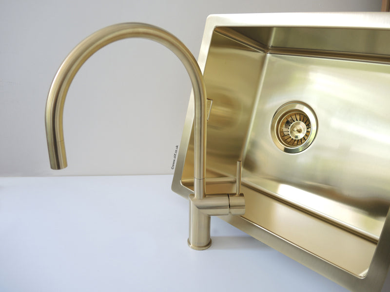 Kitchen Mixer Tap Brushed Stainless Finish