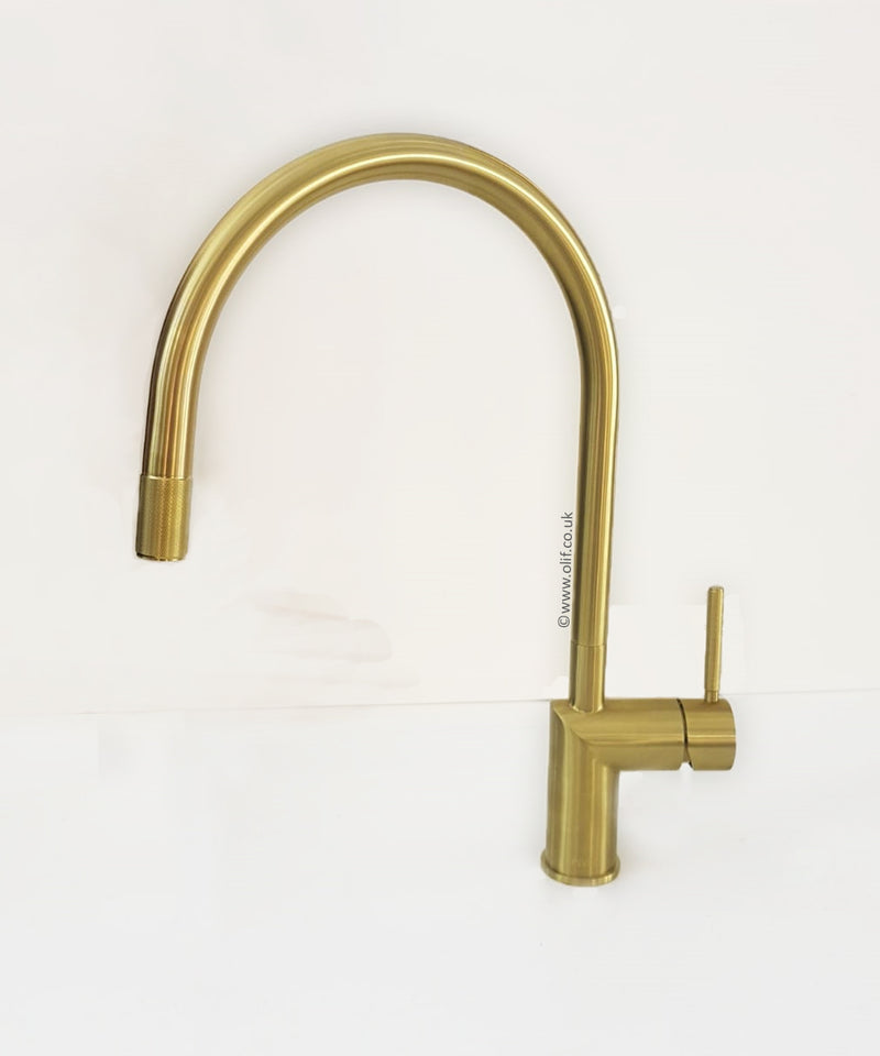 Nivito RH 140 INDUSTRIAL Brushed Brass/Gold, kitchen mixer tap