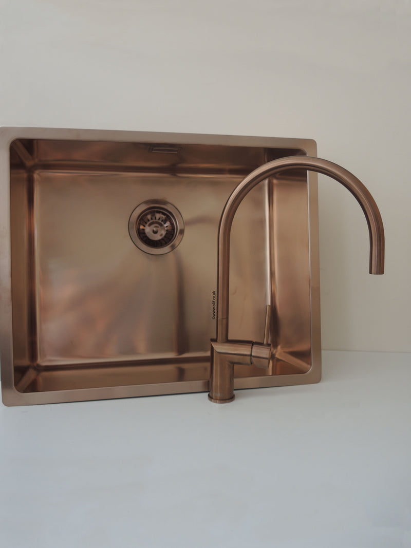 Nivito RH 150 Brushed Copper, kitchen mixer tap - Factory Seconds (40% Discount) Tap D