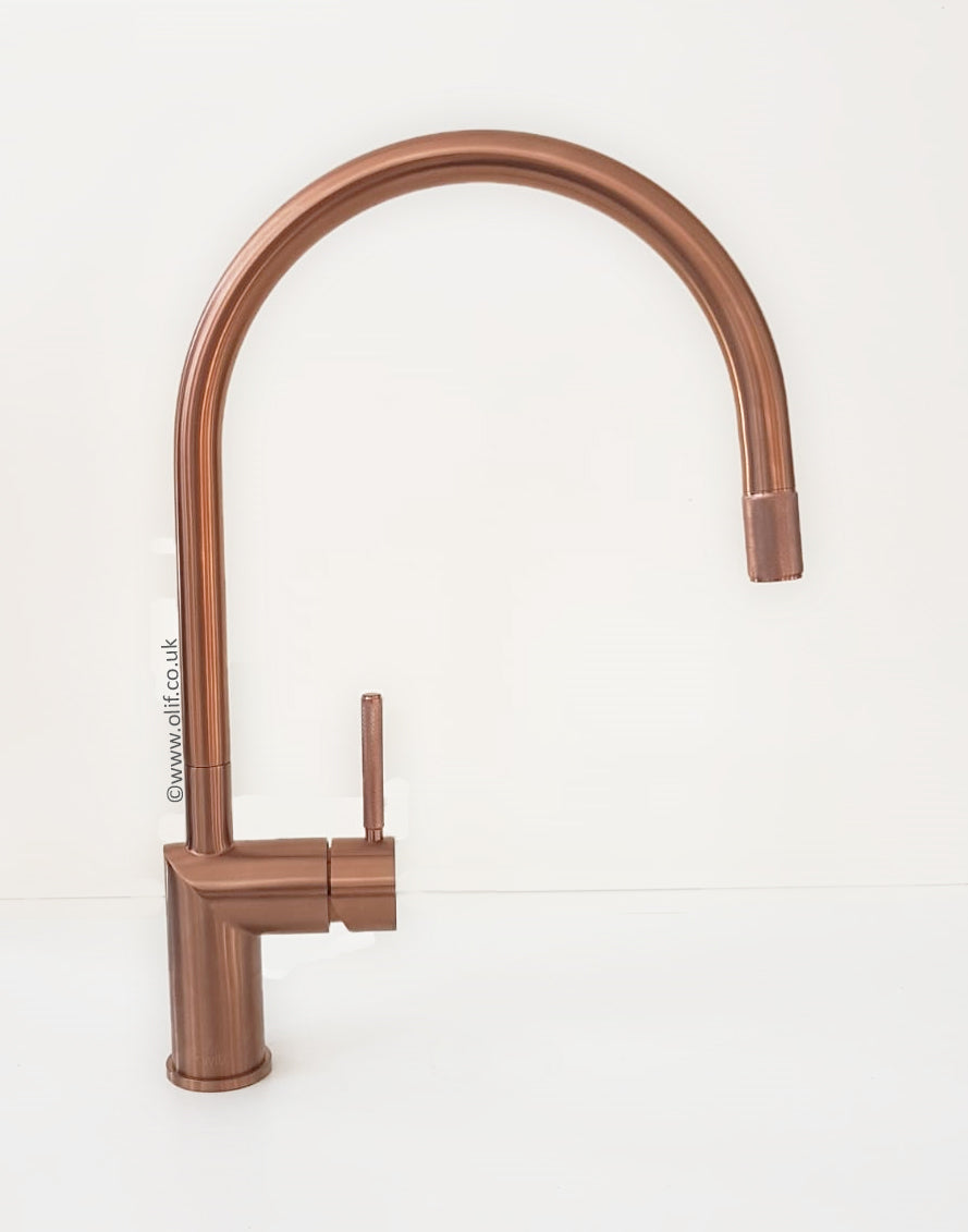 Nivito RH 150 INDUSTRIAL Brushed Copper, kitchen mixer tap