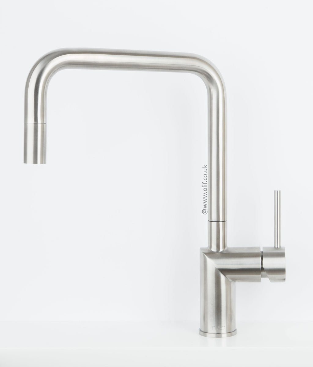 Nivito RH-300 Brushed Steel, kitchen mixer tap
