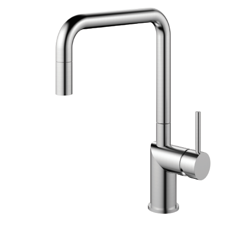 Nivito RH-300-EX Brushed Steel, pull-out kitchen mixer tap