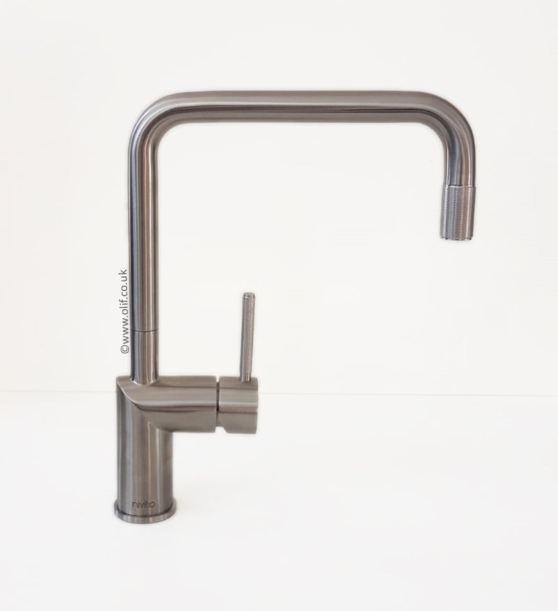 Nivito RH-300 INDUSTRIAL Brushed Steel, kitchen mixer tap
