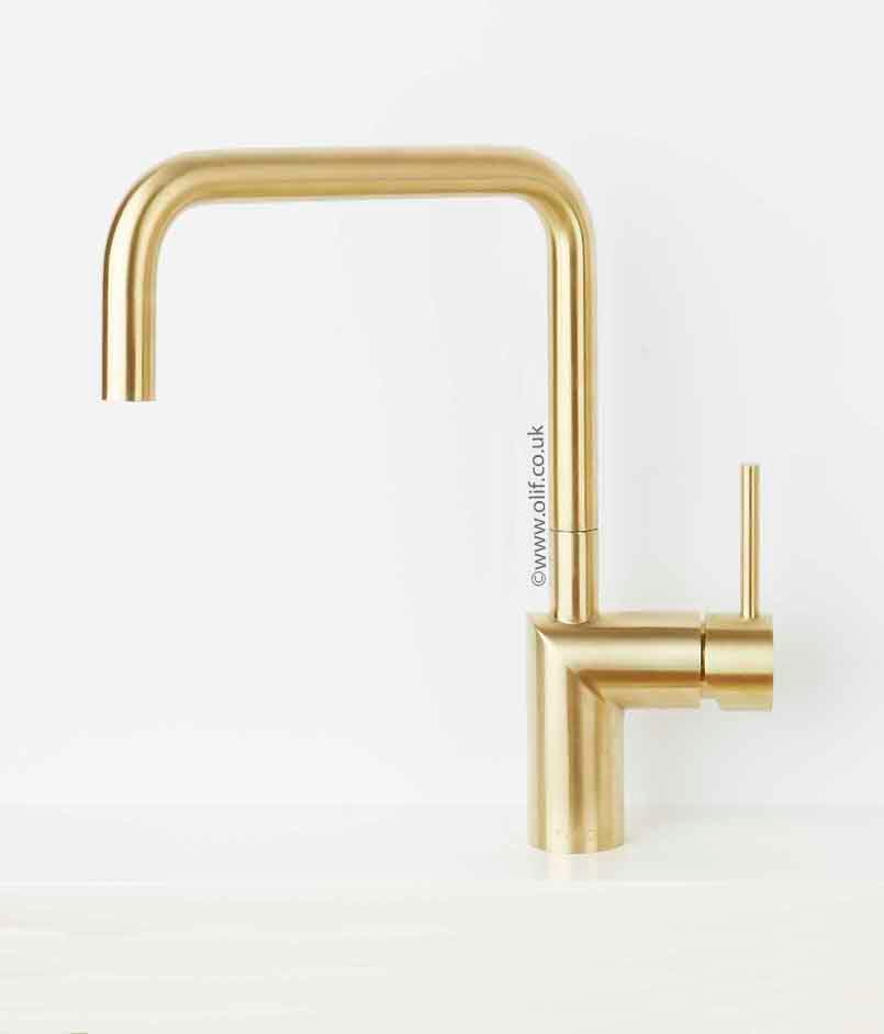 Nivito RH 340 Brushed Brass/Gold, kitchen mixer tap