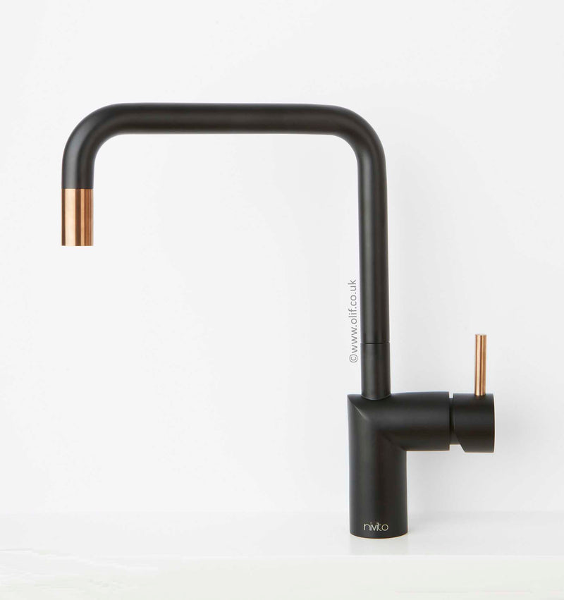 Nivito RH-350-BISTRO Black & COPPER, kitchen mixer tap