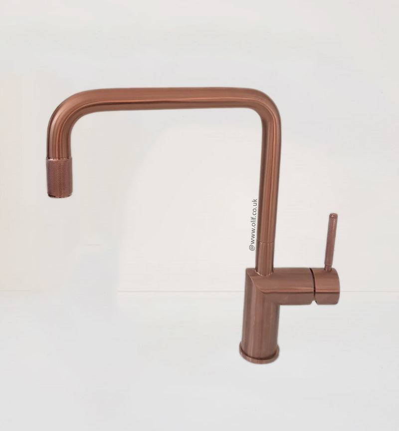 Nivito RH 350 INDUSTRIAL Brushed Copper, kitchen mixer tap