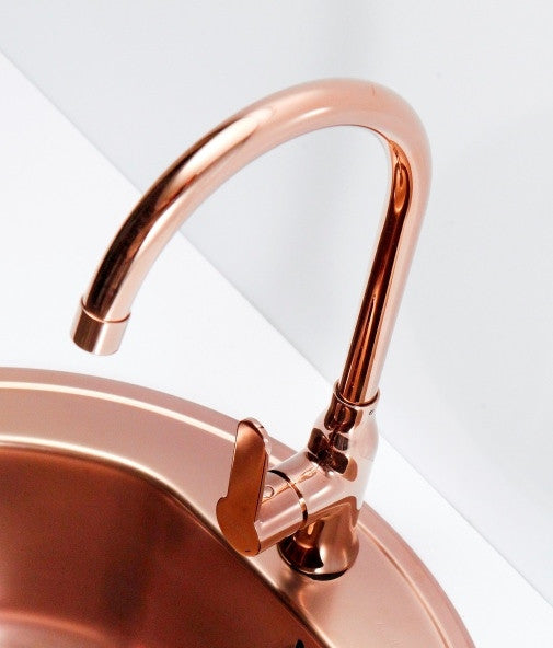 Copper Kitchen Mixer Tap Monobloc Alveus Monarch Slim