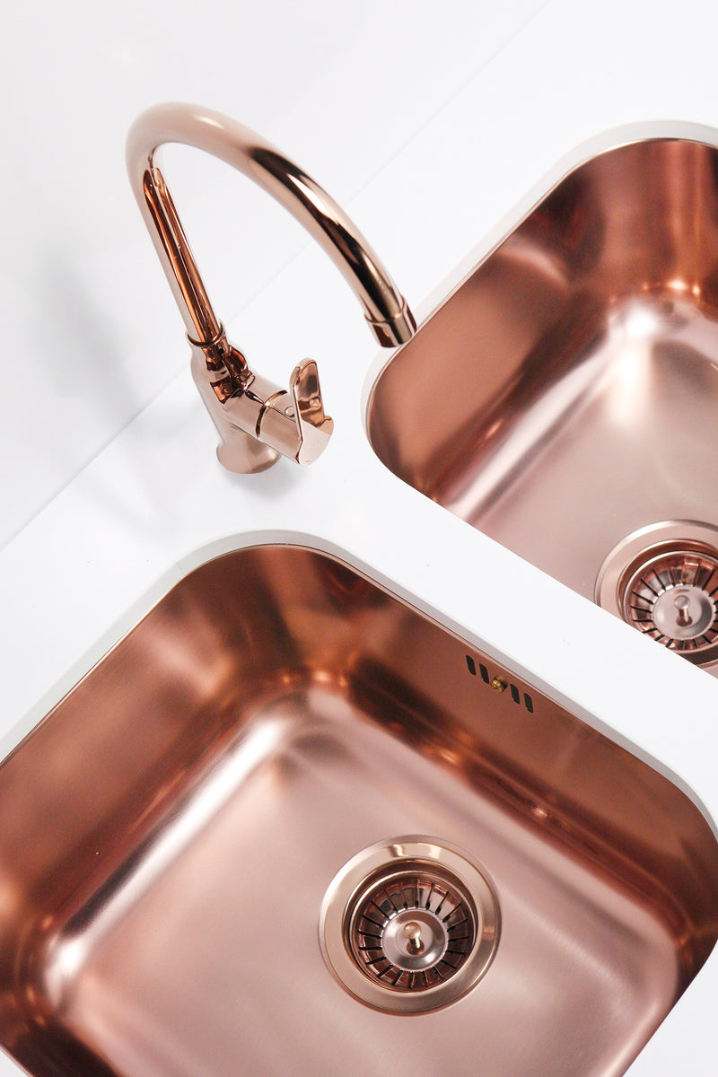 Alveus Leo Copper, kitchen mixer tap, Monarch collection