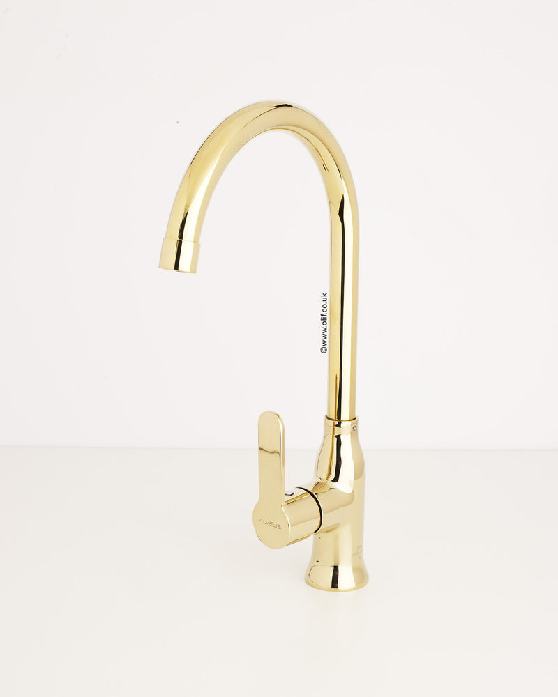 Alveus Monarch Slim Gold, kitchen mixer tap
