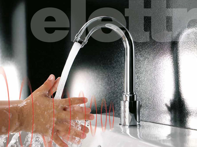 Libero Swan Touch-free Chrome basin mixer tap